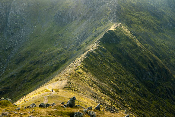 Swirral Edge, de ridge that connects Catstye Cam with Helvellyn